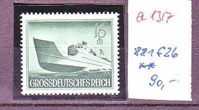 D.-Reich Nr. 881 f26  **  (a1317 ) siehe scan