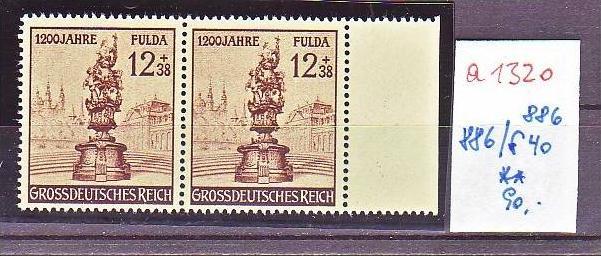 D.-Reich Nr. 886 /886 f40  **  (a1320 ) siehe scan