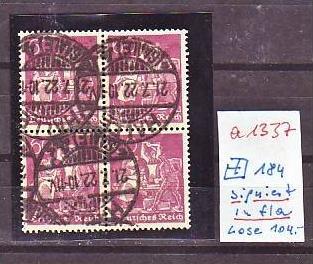 D.-Reich Nr. 4x 184   signiert   o   (a1337 ) siehe scan
