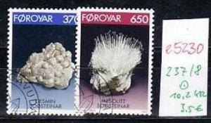 Farör Inseln  Nr. 237-8     o-Versandstellen Stempel  (e5230  ) siehe scan