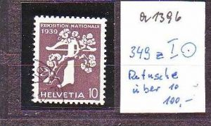 Schweiz  Nr. 349 z I  o   ( a1396 ) siehe scan-vergrößert !