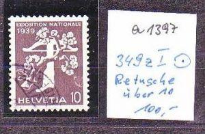 Schweiz  Nr. 349 z I  o   ( a1397 ) siehe scan-vergrößert !