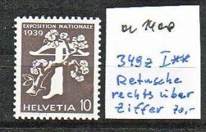 Schweiz  Nr. 349 z I  **  ( a1400 ) siehe scan-vergrößert !