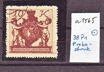 Liechtenstein   Nr.  38 P1   -Probedruck   o   (a1565   ) siehe scan