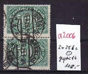 D.-Reich  2x 256  c  o-geprüft  (a2006 ) siehe scan