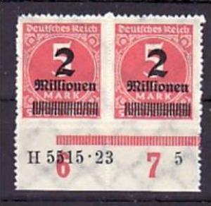 D.-Reich  2x  312 B    HAN   **  (a1998 ) siehe scan