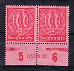 D.-Reich Nr. 2x D74   HAN      **  (a1989 ) siehe scan