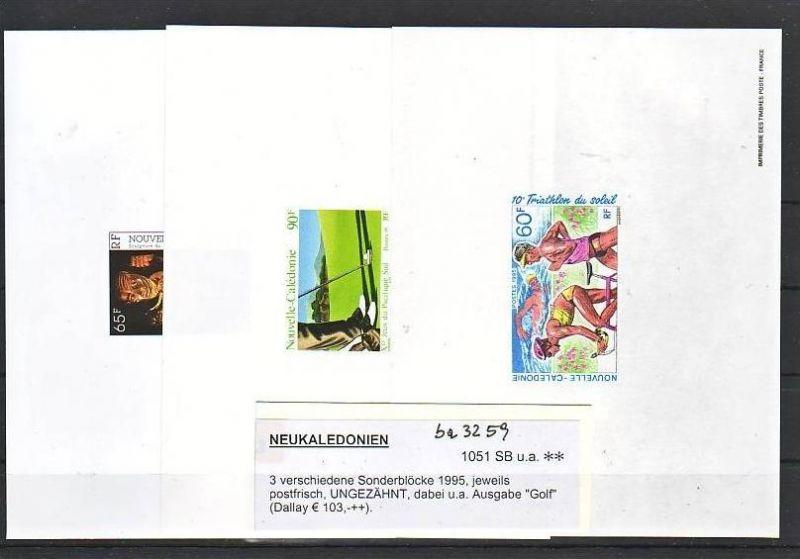 Neukaledonien   3x aus 1995 Minister Blocks-epreuve  de luxe (ba3259 ) Michel nicht gelistet ?