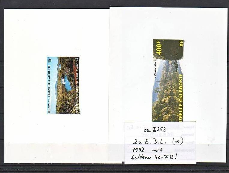 Neukaledonien Nr.2x aus 1992  Minister Blocks-epreuve  de luxe (ba3252 ) Michel nicht gelistet ?