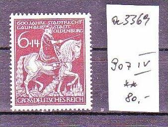 D.-Reich Nr.  907 IV     **Plattenfehler    ( a3369 ) siehe scan