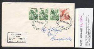 Papua Neu Guinea  Schiffspostbrief 1959     (ba3335 ) siehe scan