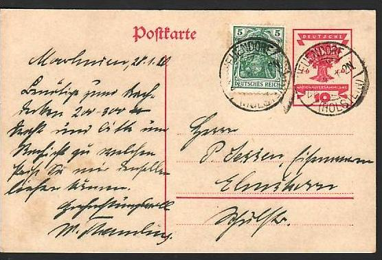 D.-Reich Ganzsache      ( ba2911 ) siehe scan