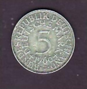 BRD  5,-Silberadler  1960   J   ( x942  ) siehe scan