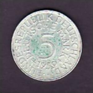 BRD  5,-Silberadler  1959 J   ( x947  ) siehe scan