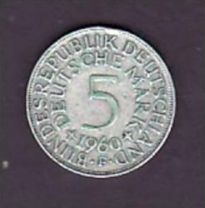 BRD  5,-Silberadler  1960  F   ( x945  ) siehe scan