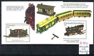 Eisenbahn  -2x Grenada    Block     **      (dc9847 ) siehe scan
