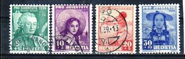 Schweiz Nr.  331-4   o-used   ( a2751  ) siehe Bild