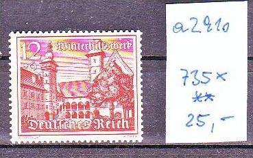 D.Reich  Nr. 735 x     **  (a2910 ) siehe scan
