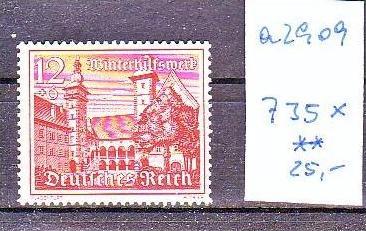 D.Reich  Nr. 735 x     **  (a2909 ) siehe scan