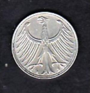 Brd 5 Dm Silberadler 1951 D X1181 Siehe Scan Nr 165860741
