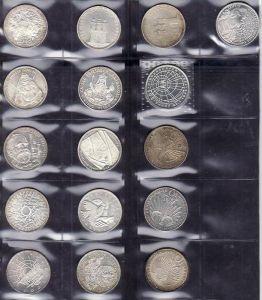 BRD  16x 10 D.-Mark  Silber   teils etwas angelaufen(x1221 ) siehe scan