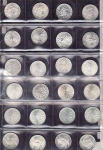 BRD  24x 10 D.-Mark  Silber  Olympia 1972 komplett