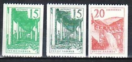 Jugoslawien  Nr. 898a+b+899  **  (a 3044 )  siehe scan