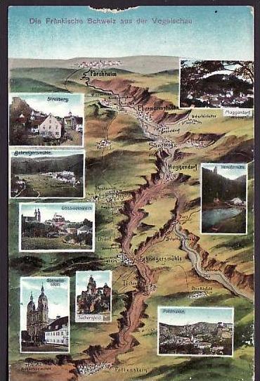 Fränkische Schweiz   alte Karte  (da2137 ) siehe scan