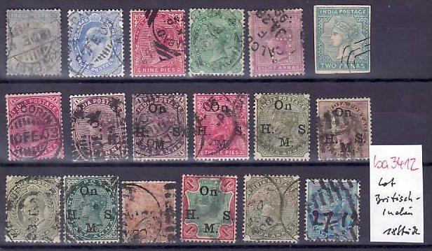 Britische Kolonien /Besetzungen   Lot alter Marken  ? 18  Stück   (ba 3412 ) siehe scan