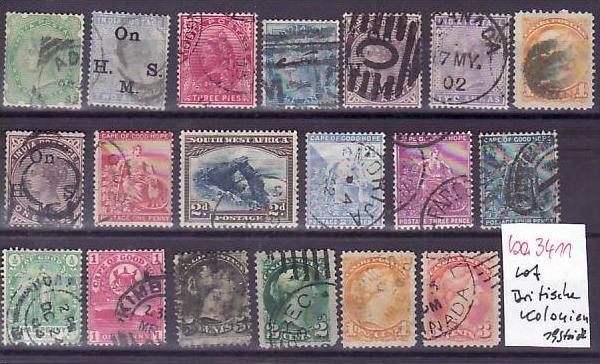 Britische Kolonien /Besetzungen   Lot alter Marken  ? 19  Stück   (ba 3411 ) siehe scan
