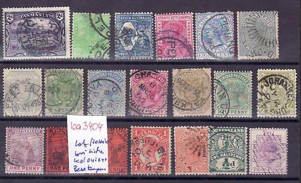 Britische Kolonien /Besetzungen   Lot alter Marken  ? 20  Stück   (ba 3404 ) siehe scan