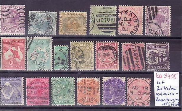 Britische Kolonien /Besetzungen   Lot alter Marken  ? 19  Stück   (ba 3405 ) siehe scan