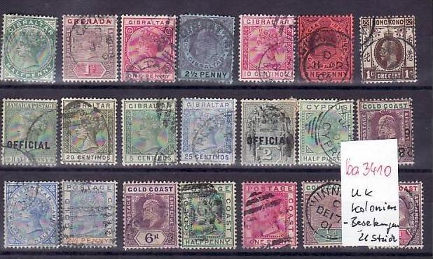 Britische Kolonien /Besetzungen   Lot alter Marken  ? 21  Stück   (ba 3410 ) siehe scan