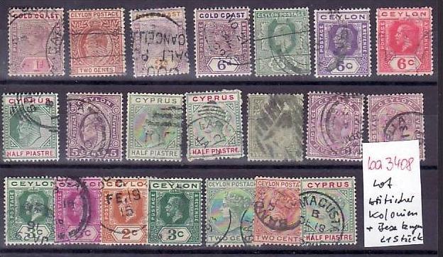 Britische Kolonien /Besetzungen   Lot alter Marken  ? 21  Stück   (ba 3408 ) siehe scan