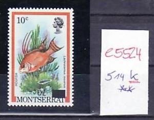 Montserrat  514 K kopfstehender Aufdruck rar  **   ( e5524 ) siehe scan