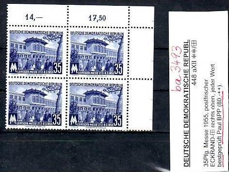 DDR  Nr. 4x 448a XII   geprüft      **      ( ba 3493   ) siehe Bild