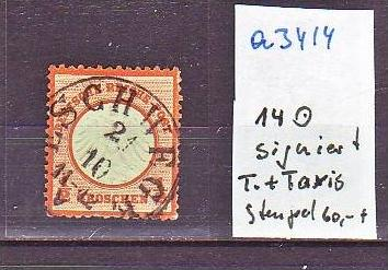 D.-Reich Nr. 14    Stempel !   o-used  (a3414 ) siehe scan