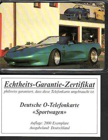 D. Telefonkarte  ...Sportwagen    ( ba3475 ) siehe scan