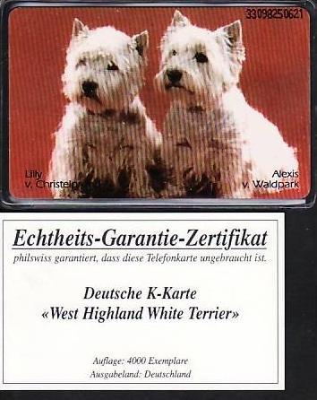 D. Telefonkarte  ...W.Terrier  ( ba3471  ) siehe scan