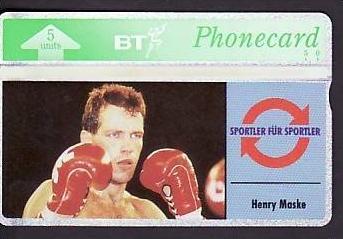 Telefonkarte  . .Henry Maske    ( ba3474) siehe scan
