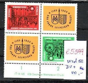 DDR   Nr.  wzd 122  DV    **  (e5599 ) siehe scan