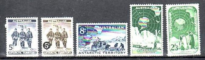 Australien Antarktis  1-5  **   ( e5674 ) siehe scan
