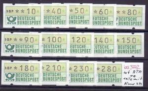 BRD    Lot  Schaltersatz  ATM  **teils mit Rollennummer ( ba3772 ) siehe scan