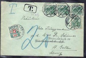 D.-Reich Auslands-Brief Nachporto !  (ba3836) siehe scan