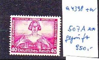 D.-Reich  Nr. 507 A   geprüft Schlegel  Wagner    (a4398 ) siehe scan