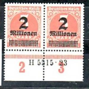 D.-Reich  Paar  312  HAN      **  ( a4532 ) siehe scan
