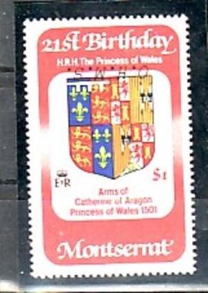 Montserrat Nr.  D50   k-kopfstehender Aufdruck  **   ( e5998 ) siehe scan