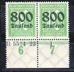 D.-Reich  Paar  302  HAN      **  ( a4531 ) siehe scan