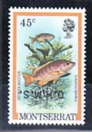 Montserrat Nr.  D37  k-kopfstehender Aufdruck  **   ( e5996 ) siehe scan