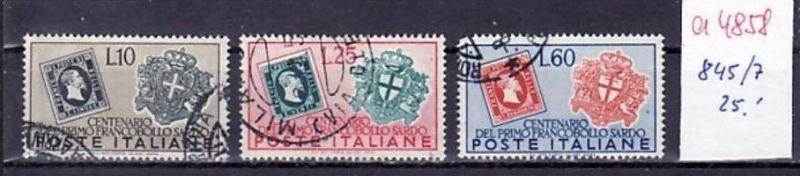 Italien  Nr. 845-7  o  ( a4858 )  siehe scan